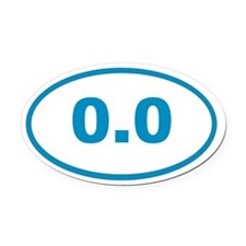 0.0 cyan blue Oval Car Magnet