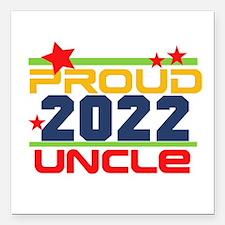 """2016 Proud Uncle Square Car Magnet 3"""" x 3"""""""