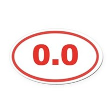 0.0 Red Oval Car Magnet