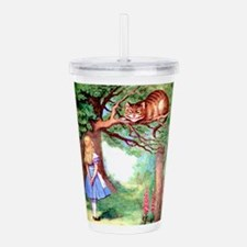 Alice & The Cheshire C Acrylic Double-wall Tumbler