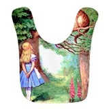 Alice in wonderland Fleece Bibs