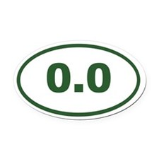 0.0 green Oval Car Magnet