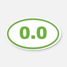 0.0 Light Green Oval Car Magnet