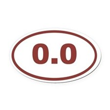 0.0 maroon red Oval Car Magnet