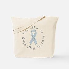 Silver Ribbon of Hope Tote Bag