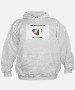 Cute Irish blood american heart Hoodie