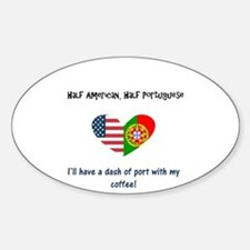 Cute Portuguese girl Sticker (Oval 10 pk)