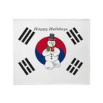 Taekwondo Christmas Throw Blanket