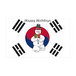 Taekwondo Christmas Wall Decal