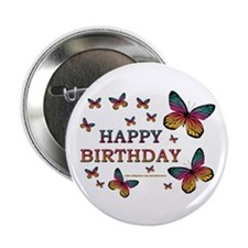 Butterfly Birthday Button
