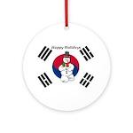 Taekwondo Christmas Ornament (Round)