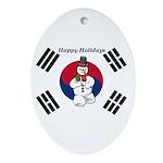 Taekwondo Christmas Ornament (Oval)