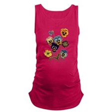 PARADE OF PANSIES Maternity Tank Top