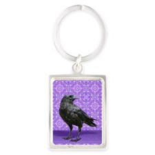Unique Raven Portrait Keychain
