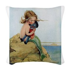 LITTLE MERMAID Woven Throw Pillow