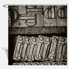 Lead Letters Shower Curtain