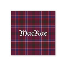 "Tartan - MacRae Square Sticker 3"" x 3"""