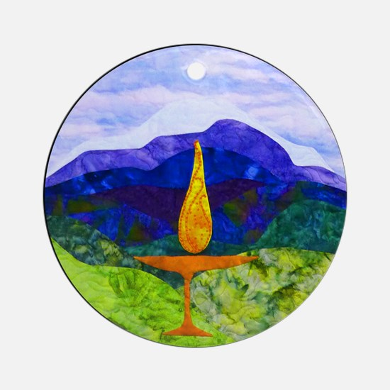 Mountain Chalice Ornament (round)