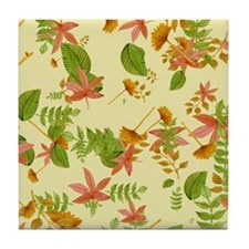 Vintage Autumn foliage Tile Coaster