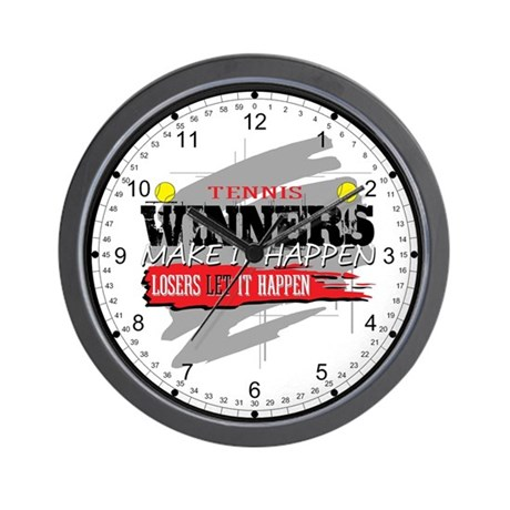 Winners and Losers Tennis Wall Clock