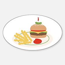 Dinner Hamburger Fries Decal