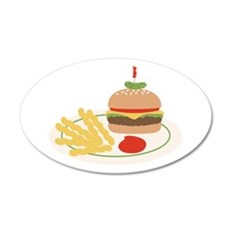 Dinner Hamburger Fries Wall Decal
