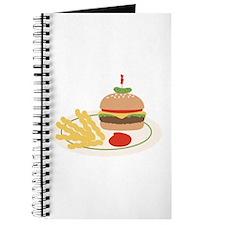 Dinner Hamburger Fries Journal