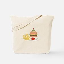 Dinner Hamburger Fries Tote Bag