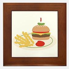 Dinner Hamburger Fries Framed Tile