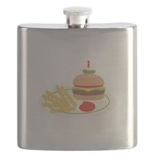 Dinner Hamburger Fries Flask