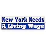 New York Living Wage Bumper Sticker