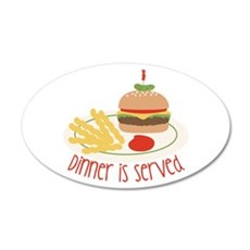 Dinner Is Served Wall Decal
