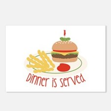 Dinner Is Served Postcards (Package of 8)