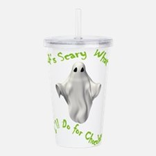 scary ghost copy.png Acrylic Double-wall Tumbler