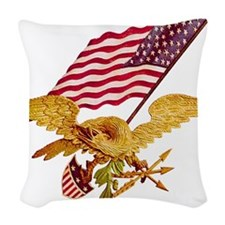 EAGLE ONE copy.png Woven Throw Pillow