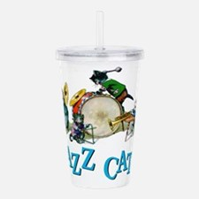 Jazz Cats Blue.png Acrylic Double-wall Tumbler