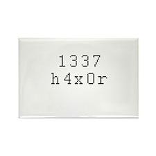 1337 h4x0r - Leet Hacker Rectangle Magnet