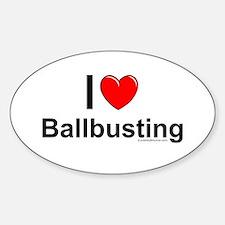 Ballbusting Sticker (Oval)