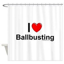 Ballbusting Shower Curtain