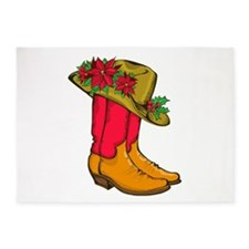 Christmas Cowboy Boots 5'x7'Area Rug