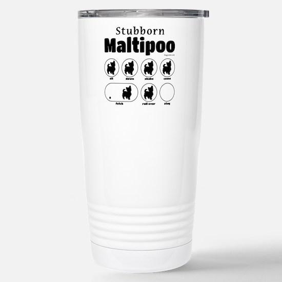 Stubborn Maltipoo v2 Stainless Steel Travel Mug