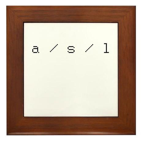 a/s/l Framed Tile