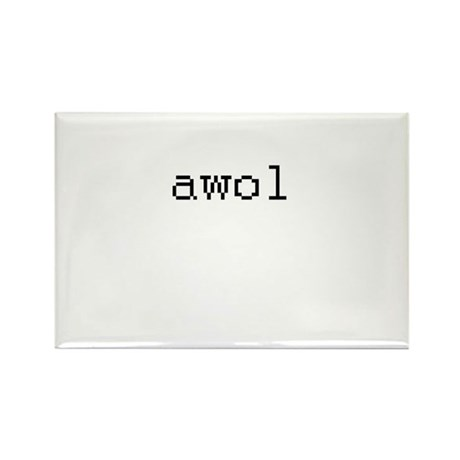 awol - Absent while online Rectangle Magnet (10 pa
