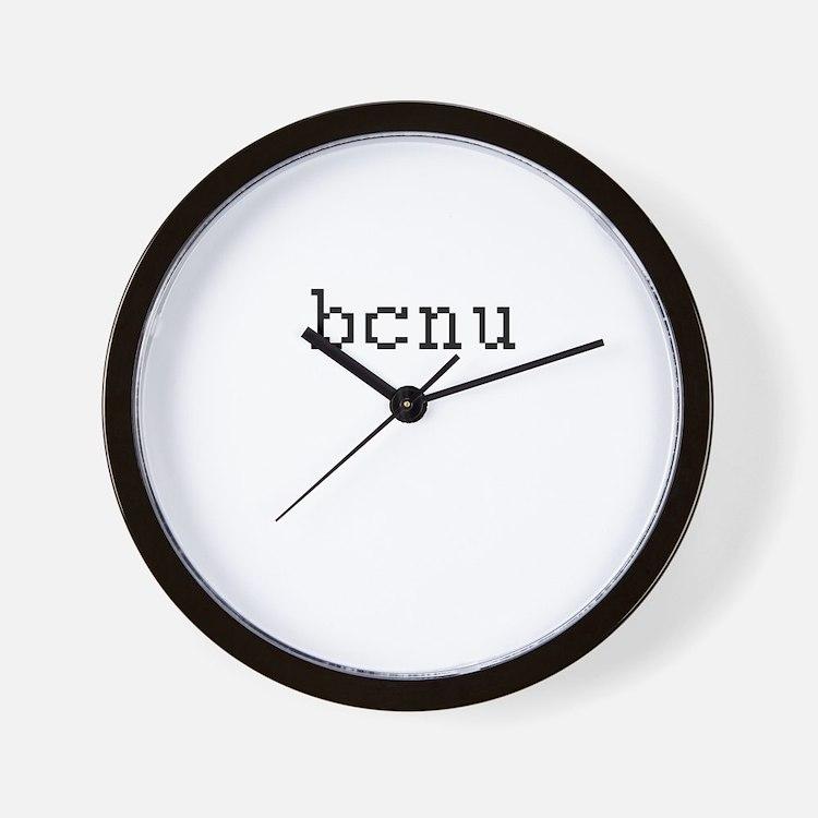 bcnu - Be seeing you Wall Clock