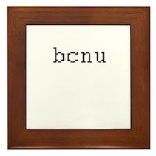 bcnu - Be seeing you Framed Tile