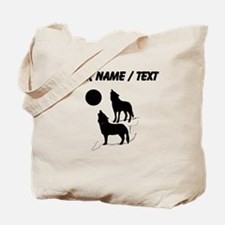Custom Coyotes Howling Silhouette Tote Bag