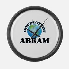 World's Coolest Abram Large Wall Clock