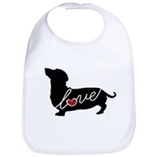 Dashund / Weiner Dog Love Bib