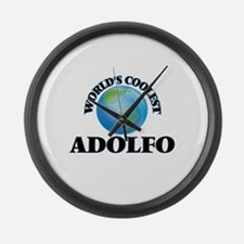 World's Coolest Adolfo Large Wall Clock