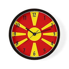 Flag of Macedonia Wall Clock